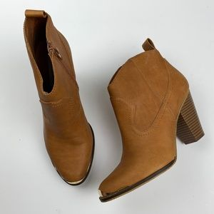 Steve Madden Piiperr Brown Ankle Booties 7.5
